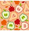 autumn fruit seamless vector image vector image