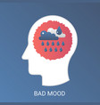 bad mood concept modern gradient flat vector image