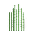 bamboo sticks icon vector image vector image