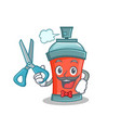 barber aerosol spray can character cartoon vector image vector image