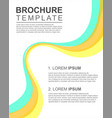 brochure layout template style collection vector image vector image