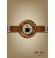 Brown coffee house menu design vector image vector image
