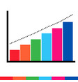 business data graph icon vector image