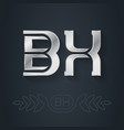 bx - initials or silver logo design element with vector image
