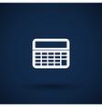 Calculator Icon isolated displa mathematics vector image