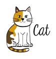 cat design animal concept flat vector image