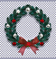 christmas new year blue branch of spruce in the vector image vector image