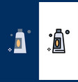 cream cleaning clean icons flat and line filled vector image