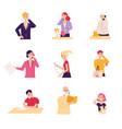 different characters men and women young and old vector image vector image