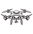 drone isolated on white background vector image vector image
