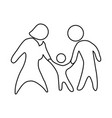 family pictogram symbol vector image vector image