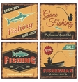 Fishing Vintage Style Concept vector image vector image