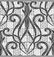 greek black and white geometric seamless pattern vector image vector image