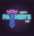 happy fathers day sign on brick wall background vector image