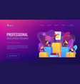 internal education concept landing page vector image vector image