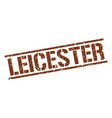 leicester brown square stamp vector image vector image
