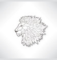 lion head african animal profile isolated vector image vector image