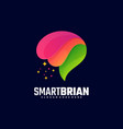 logo smart brian gradient colorful style vector image