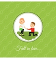 Man make a proposal to marry vector image vector image