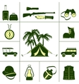 Safari Icons For Hunting vector image vector image