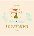 saint patricks day square greeting banner vector image vector image