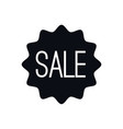 sale icon flat style for promotion design vector image