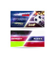 soccer or football wide banner or flyer design vector image vector image