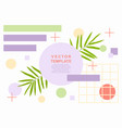 summer art web banner template with a palm leaves vector image vector image