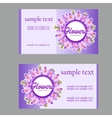 two business cards with lilac design vector image