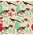 Vintage Birds Wilderness Pattern vector image vector image