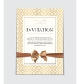 Vintage Wedding Invitation with Bow and Ribbon vector image vector image