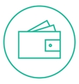 Wallet with money line icon vector image
