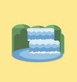 Waterfall - flat design icon vector image