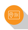 white address book line icon isolated on