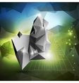 Abstract 3D pyramid geometric colorful triangle vector image
