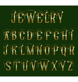 Font jewelry vector image