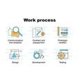 set of work process vector image