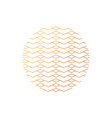 abstract geometric pattern in circle vector image