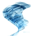 Abstract header blue wave vector image vector image