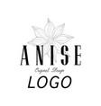 anise logo original design culinary spice emblem vector image vector image