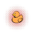Baby rubber duck comics icon vector image vector image