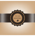Brown invitation paper decorated with floral vector image vector image