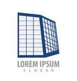 building glass frames logo concept design symbol vector image