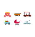 cart icon set flat style vector image