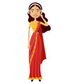 cartoon indian of a smiling customer vector image