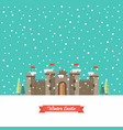 castle in winter season vector image