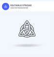 celtic knot icon filled flat sign solid vector image vector image