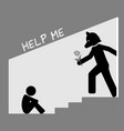 child abuse hidden from outside world vector image