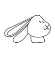 christmas rabbit animal ears outline vector image