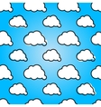 Clouds in blue sky Nature sunny summer background vector image vector image